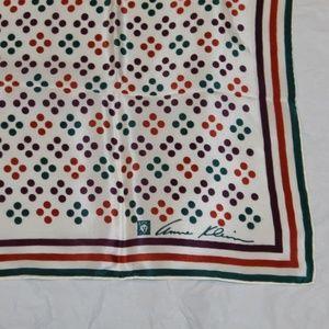 Vintage Anne Klein Silk Polka Dot